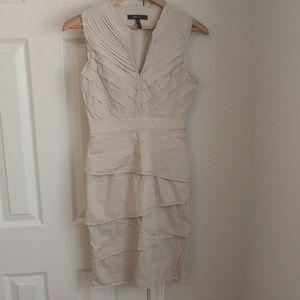 BCBG Tan Sleeveless Dress